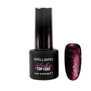 Flake Top Coat 4ml Pink