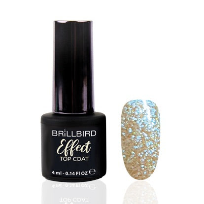 Effect Top Coat 4 ml Turquoise