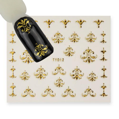 BB nail sticker (TY012 gold)