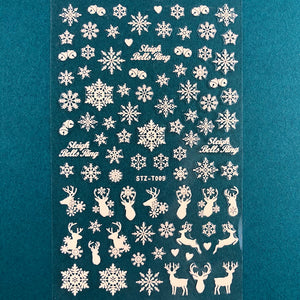 Christmas Stickers White