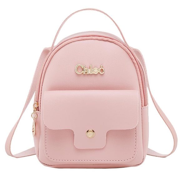 anti-theft Fashion Ladies shoulders Small Backpack Letter Purse Mobile Phone Bag School Backpack For Teenage  PURSEX