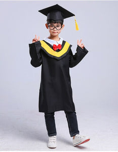 Children Roleplay Students School Uniforms Kids Girl Graduation Doctor Bachelor Gown Performance Costumes Toddler Boy Party Wear