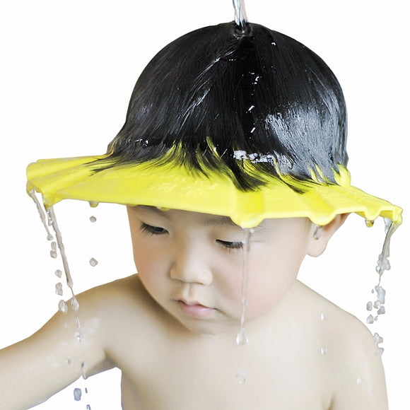 1 PCS 26*28.5 cm Safe Waterproof Protect Eyes Hair Shower Bathing Tools For Kids Adjustable EVA shampoo cap HOUSEX