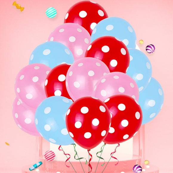 100 pcs 12 Inch Polka Dot Latex Balloons baby birthday Wedding Decoration Supplies Party Supplies Balloons toyex