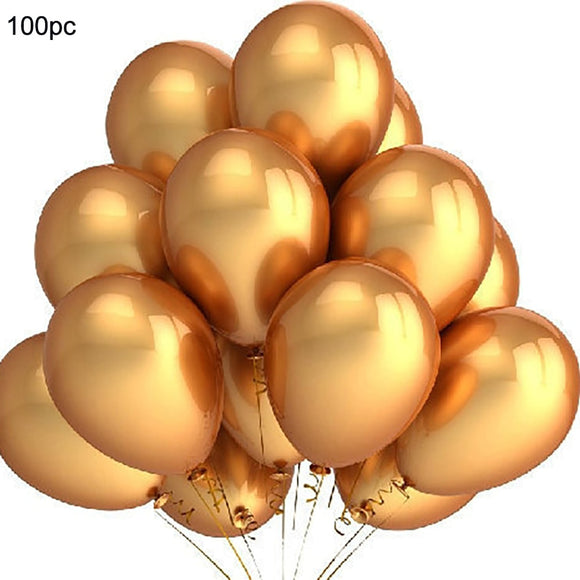 100 PCS Gold Balloons 12 Inch Wedding Happy Birthday Party Easter Gold eggs festival toyex Decoration Latex Balloons