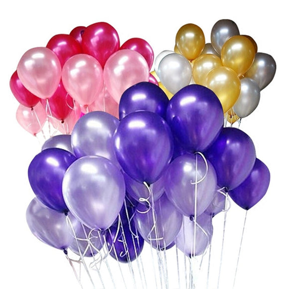 100 pcs/pack 10 inch thick 2.2g pearlized round latex balloon toyex decoration balloons party balloons
