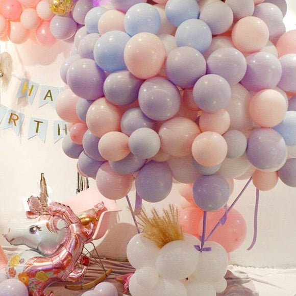 100/50PCS Macaron Color Wedding Balloons Children's Day Birthday toyex Graduation Party Decoration Latex Balloon BN7023
