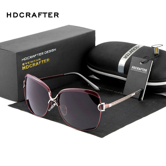 HDCRAFTER 2017 Polarized Sunglasses Women Brand Designer Female Retro Oversized Sun Glasses for Women oculos de sol feminino