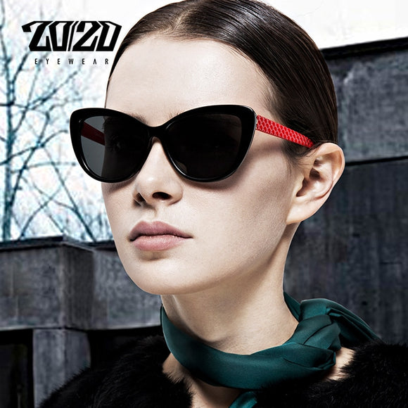 20/20 Brand Design Women Cat eye Polarized Sunglasses Female Sun Glasses Retro Style Shades Glasses Oculos Feminino PL336