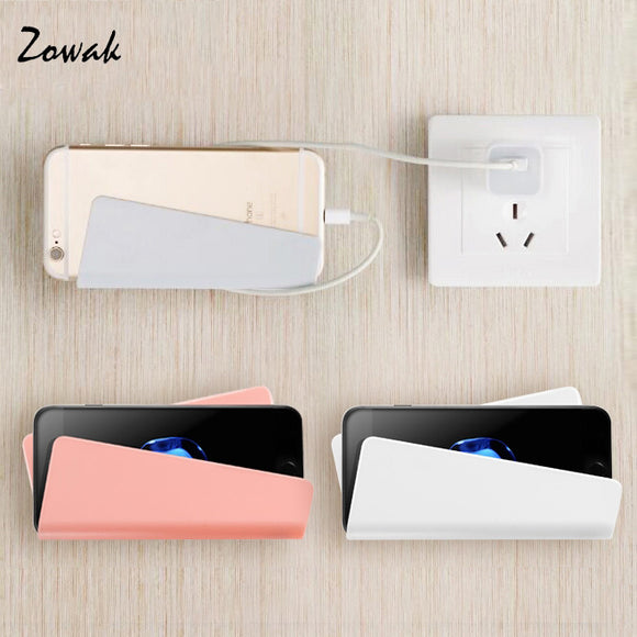 Adhesive Mobile Phone Wall Charger Home Adapter Charging Holder Hanging Stand Bracket Support Shelf Hanger Rack Cell HOUSEX