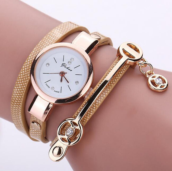 Luxury Brand Leather Quartz Watch Women Ladies Casual Fashion Bracelet Wrist Watch Wristwatches Clock Relogio Feminino Female