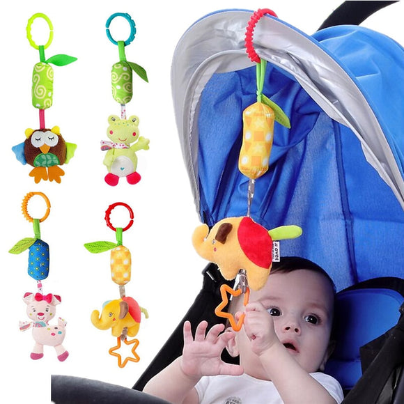 JJOVCE Lovely animal Baby Rattles Stroller Hanging Toys Plush Mobiles Campanula classic toy gifts for children  toyex