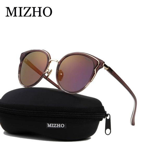 MIZHO 22g TR90 Stretch Frame Small Cateye Polarized Sunglasses For Women Vintage UV400 Protector Female Sun Glasses Visual