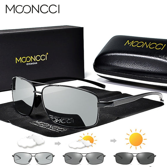 MOONCCI Photochromic Sunglasses Men Polarized Aluminum Chameleon Glasses HD Driving Shades Sun Glasses Male oculos gafas lentes