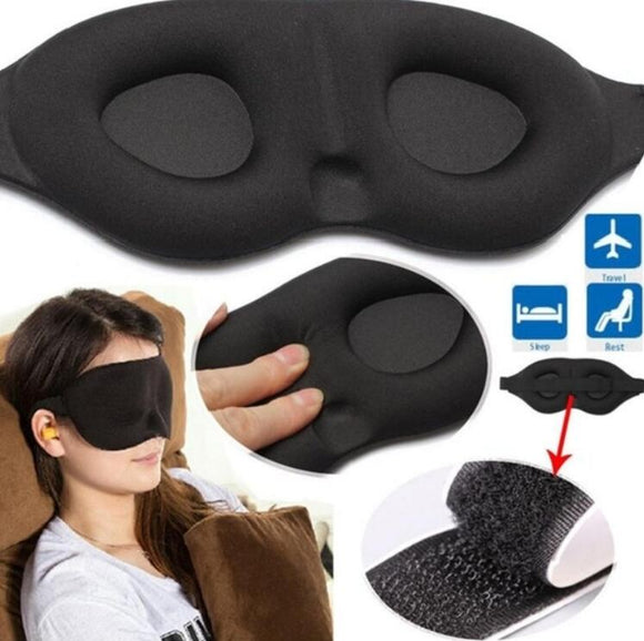 3D Sleeping eye mask Travel Rest Aid Eye Mask Cover Patch Paded Soft Sleeping Mask Blindfold Eye Relax Massager Beauty Tools HOUSEX