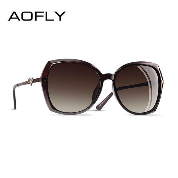 AOFLY BRAND DESIGN Diamond shape Luxury Women Polarized Sunglasses Fashion ladies Sun Glasses Female Gradient Eyewear Goggles