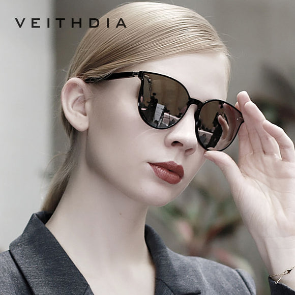 VEITHDIA Brand Vintage Photochromic Womens Sunglasses Polarized Mirror Lens Day Night Dual Sun Glasses Female For Women VT8520