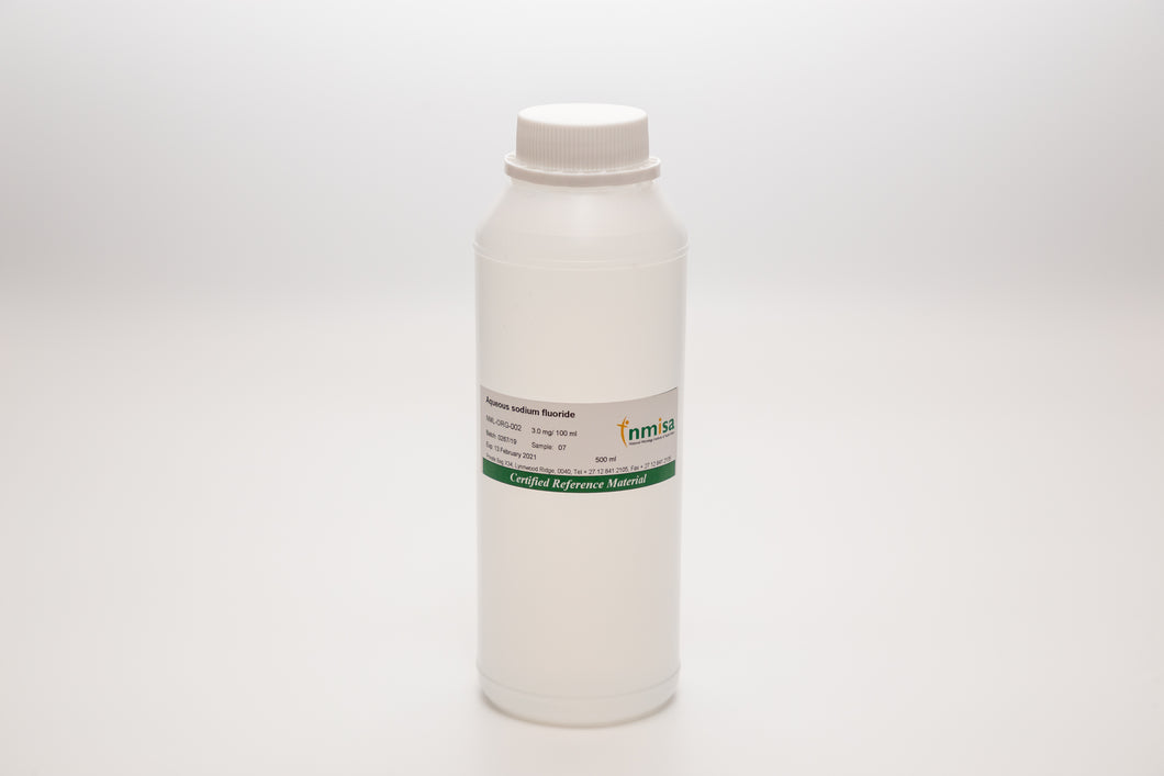Aqueous Sodium Fluoride- Concentration: 1 g / 100 ml - CRM