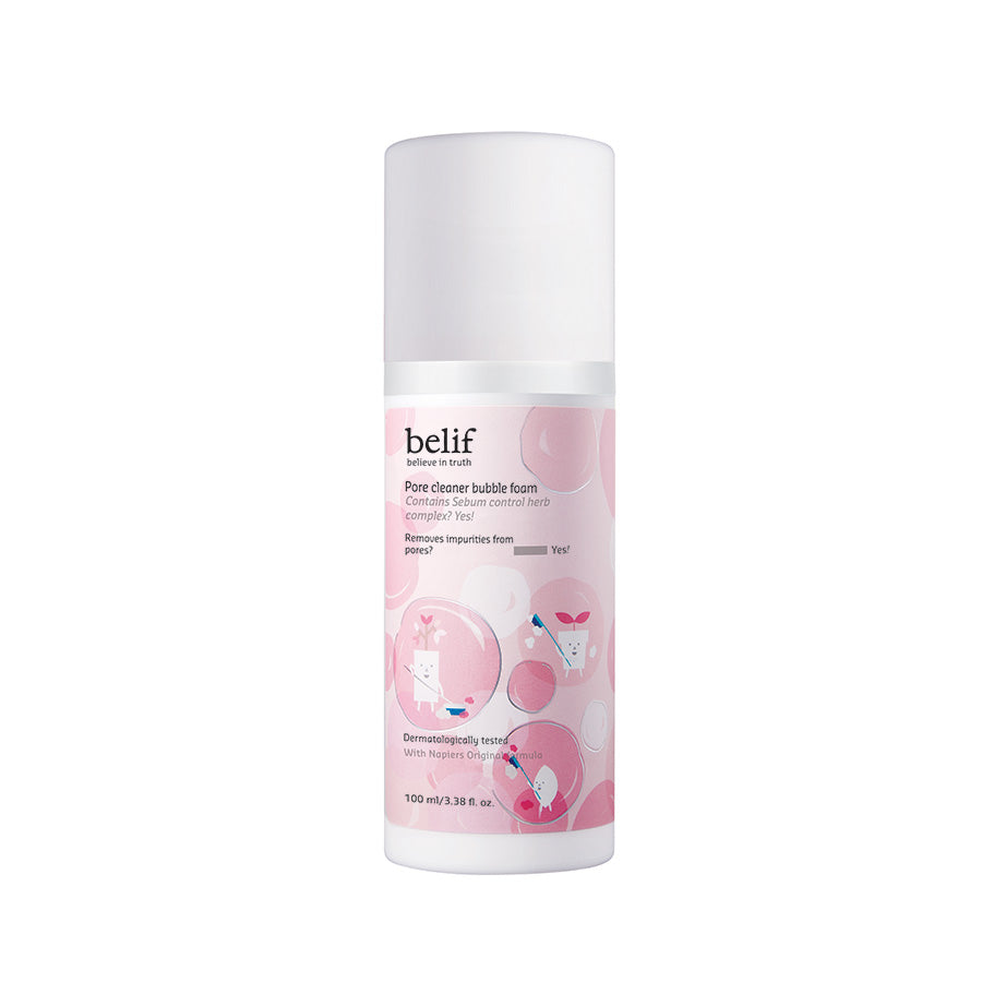 Pore cleaner bubble foam