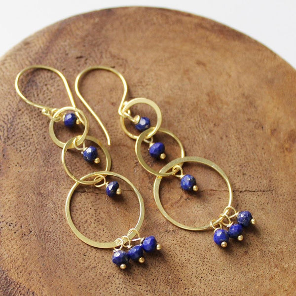 Bea (Lapis Lazuli on Gold Plated Silver)