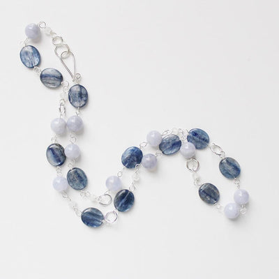 Blue semiprecious stone necklace