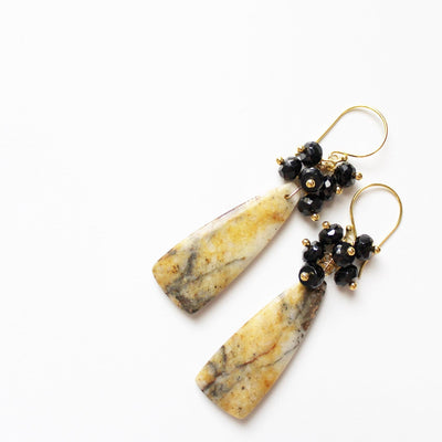 Handmade semiprecious stone earrings
