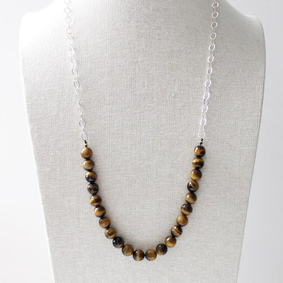 Facetted tigers eye necklace
