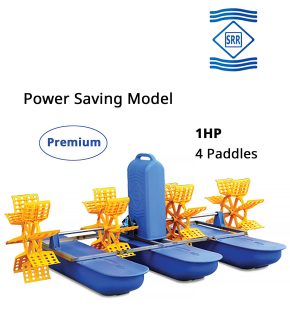 SRR Premium : 1 HP 4 Paddle Wheel Aerator (3 Phase)