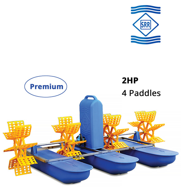 SRR Premium : 2 HP 4 Paddle Wheel Aerator (3 Phase)