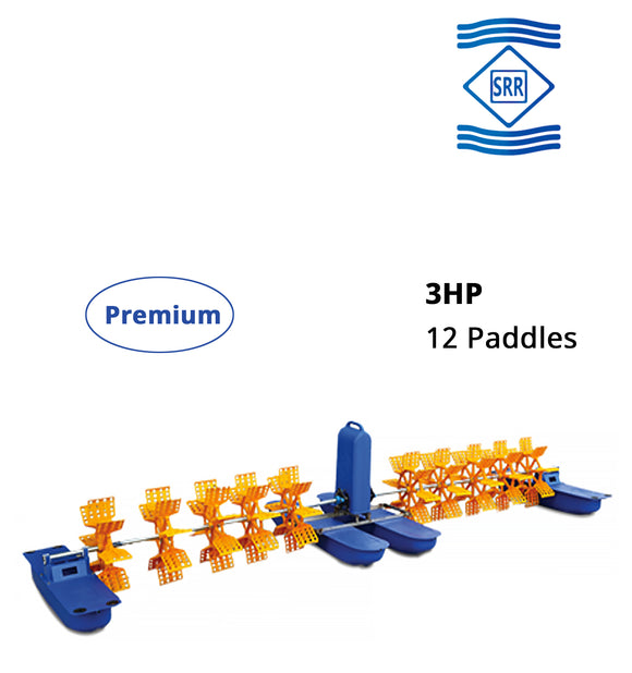 SRR Premium : 3 HP 12 Paddle Wheel Aerator (3 Phase)