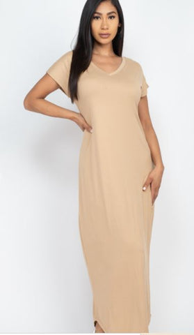 Pretty Casual Maxi Dress - Drip Pink Fashions