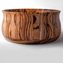 Zebrawood wooden bowl