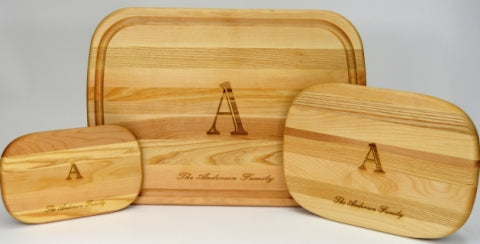 Personalized bridal wooden cutting boards