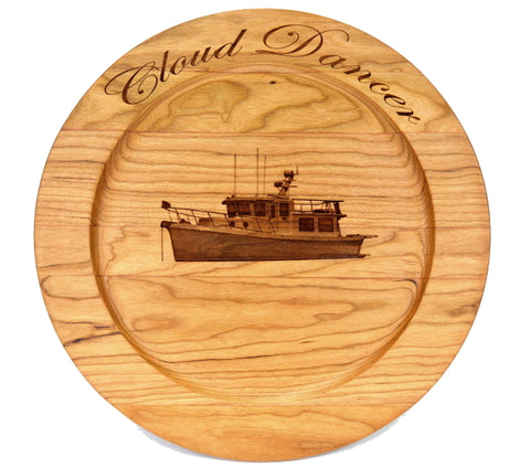 Personalized wooden plate