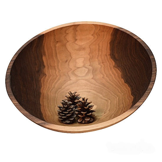 Black walnut 17 inch diameter one piece wood salad bowl