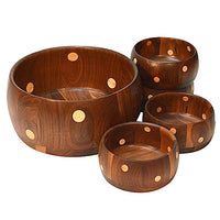 Black Walnut Polka Dot Bowls with Ash wood dots