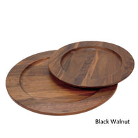 Black walnut wooden plates
