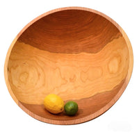 Cherry 17 inch diameter one piece wood salad bowl