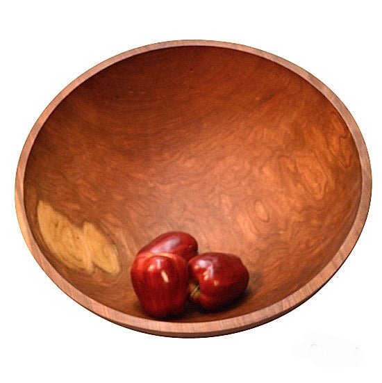 Cherry 20 inch one piece wood salad bowl