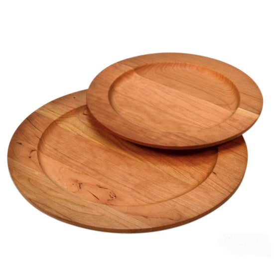 Cherry wooden plates