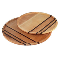 Wooden lazy susan turntables in yellow birch wood