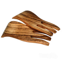 Zebrawood wooden salad hands