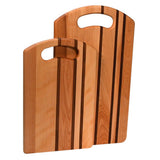 Yellow Birch bread board with handle