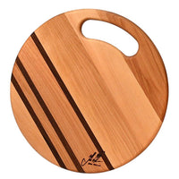 Yellow Birch round cheese cutting board
