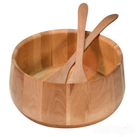 Yellow Birch Tulip wooden bowl and servers