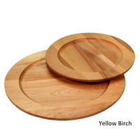 Yellow birch wooden plates