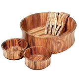 Zebrawood unique wooden bowls collection