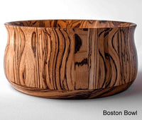 Boston Bowl shaped Zebrawood Bowl