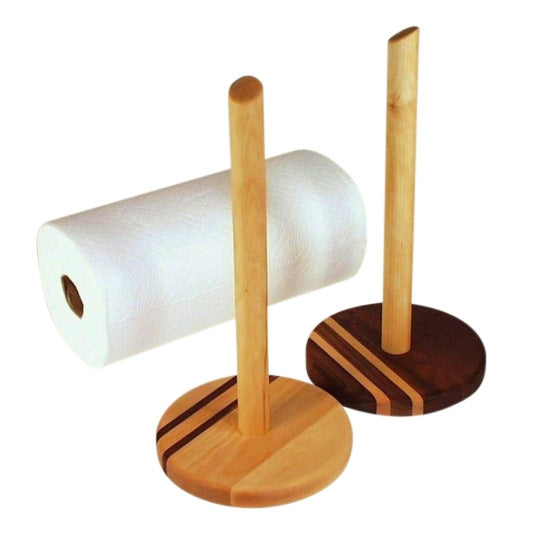 Wooden Standing Paper Towel Holder