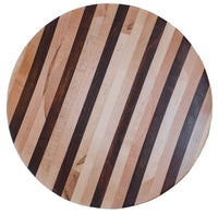 Top view of wooden serving platter